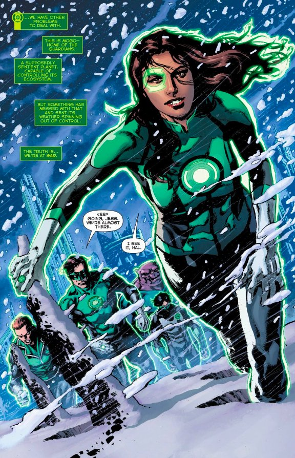 Its a cold winter on Mogo as Jessica Cruz and the Corps discover whats really happening with the Phantom Ring. Whatd you think of GREEN LANTERNS #55?