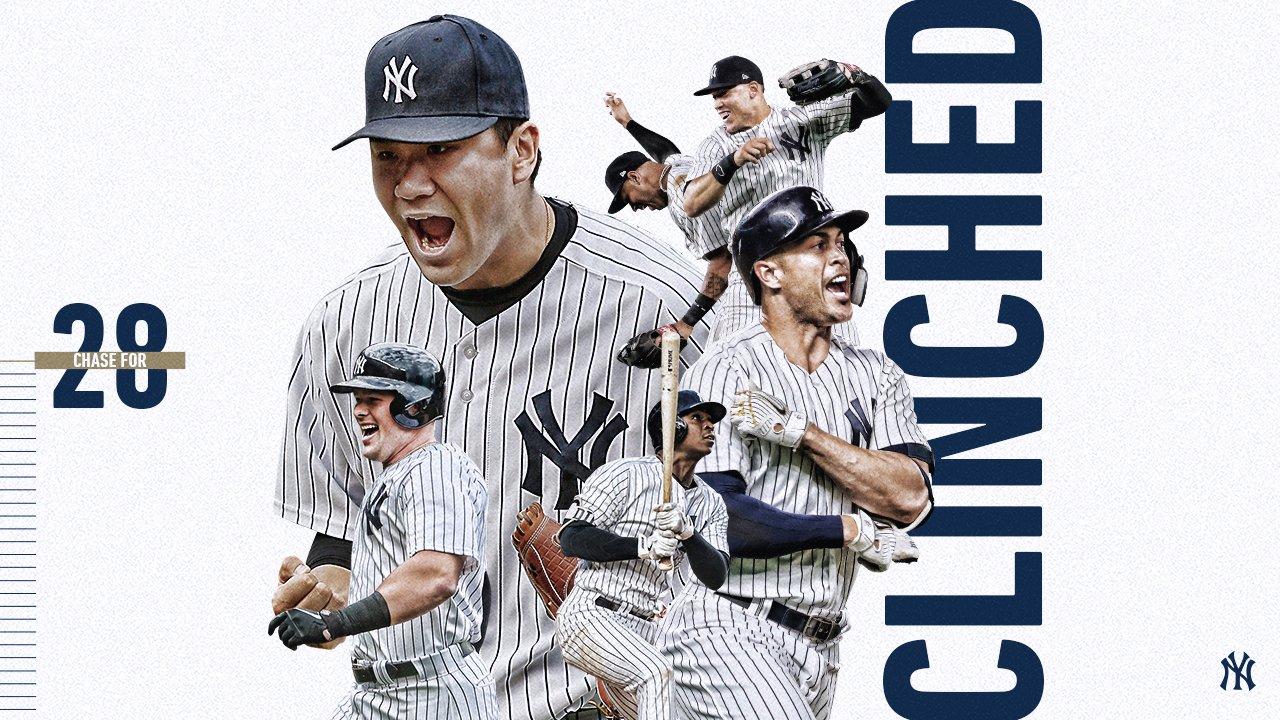 The New York Yankees are Postseason bound. https://t.co/pG0lWDNgaV