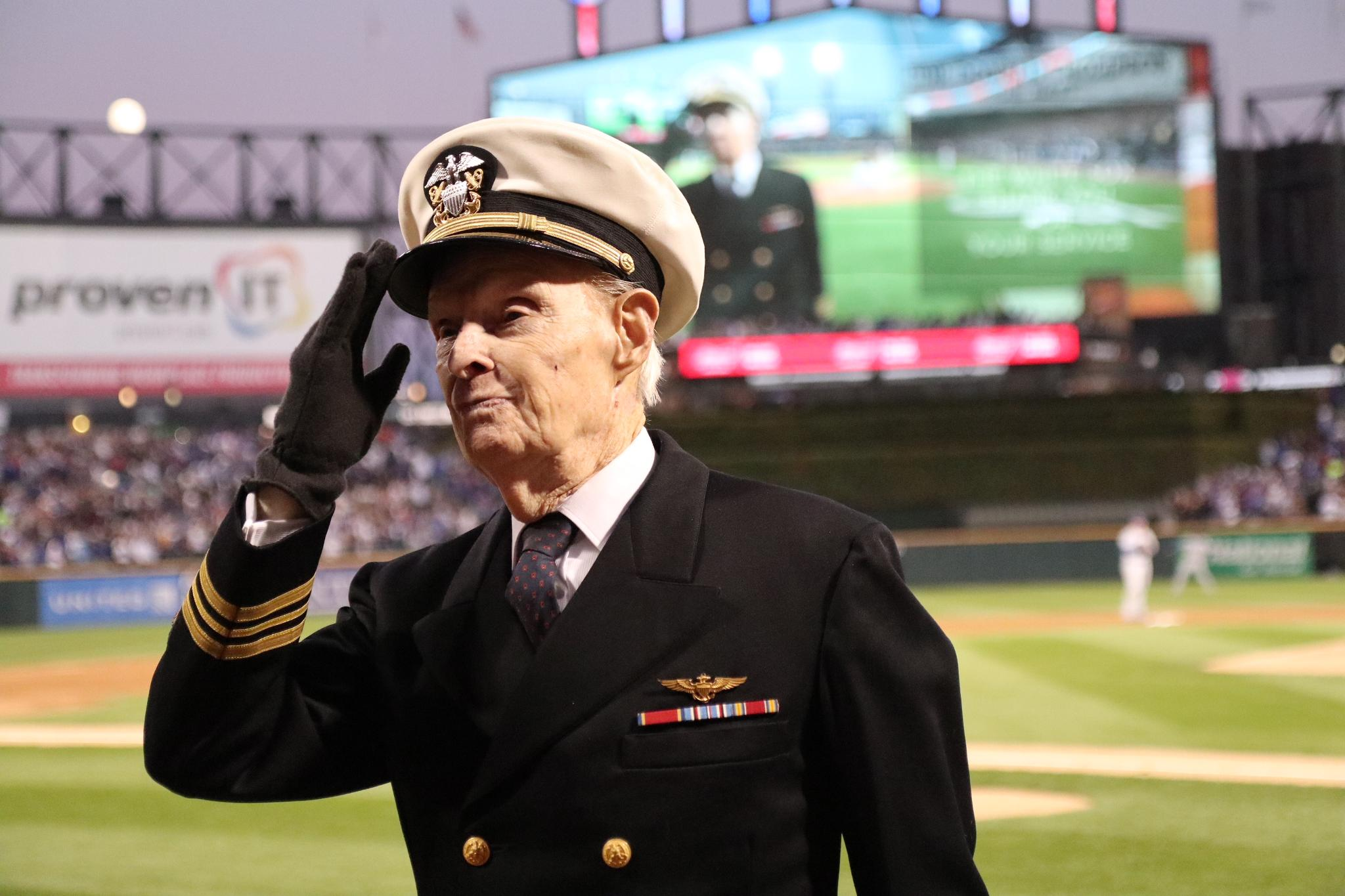 Tonight's Hero of the Game – WWII Commander Donald Thompson, U.S. Navy! ���� https://t.co/oLl6j8p7cs