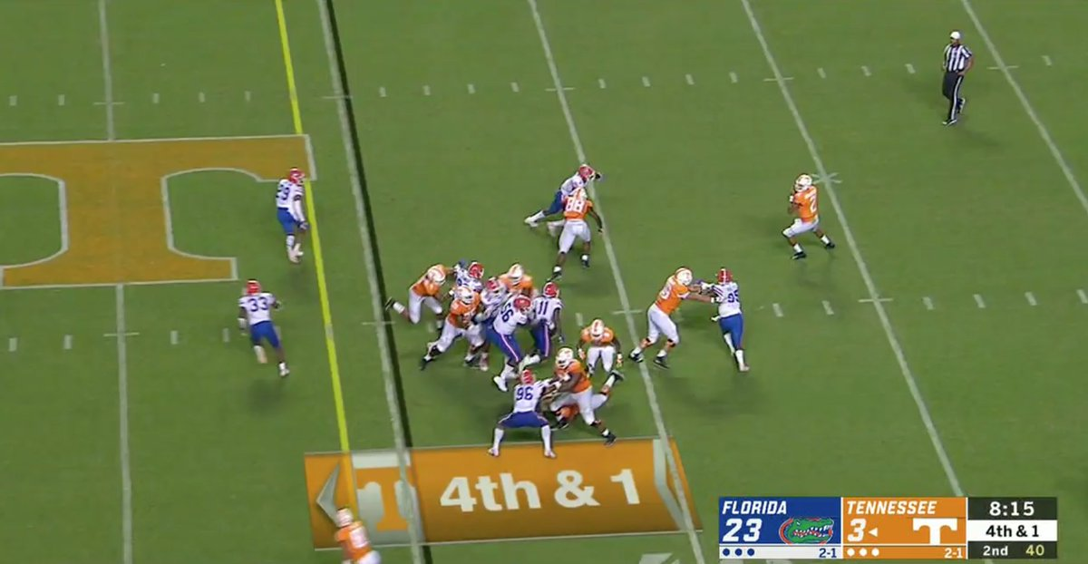 Tennessee: ✅ went for it on 4th and 1 ✅ got a wide open receiver ✅ gained 54 yards ✅ fumbled out of the end zone for a touchback 🤦♂️