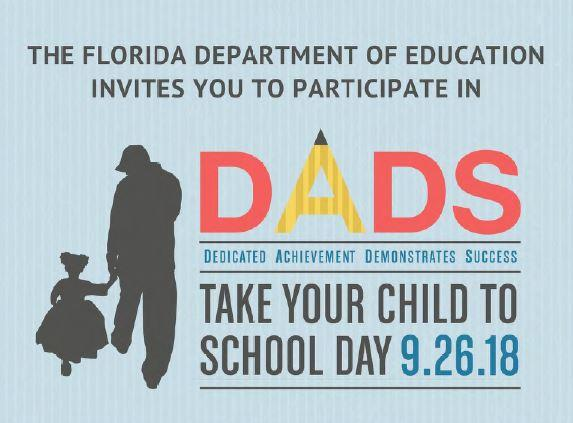 Save the date, and bring your child to school on Wednesday Sept 26.   MES will provide you with 🍩 &🥤, plus a chance to have your child share a 📔 with you in our media center. All Father figures are welcome. @ManateeCCPS  #CCPSFamily #ManateeStrong #CCPSSuccess