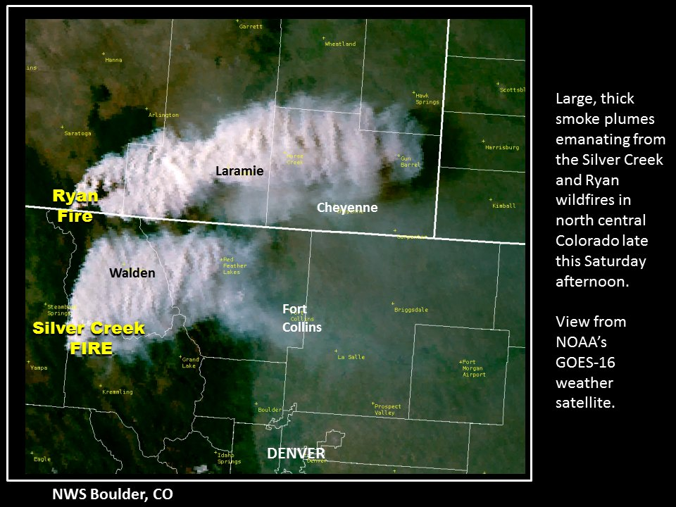 Co Wildfire Info On Twitter Two Large Ongoing Wildfires In N