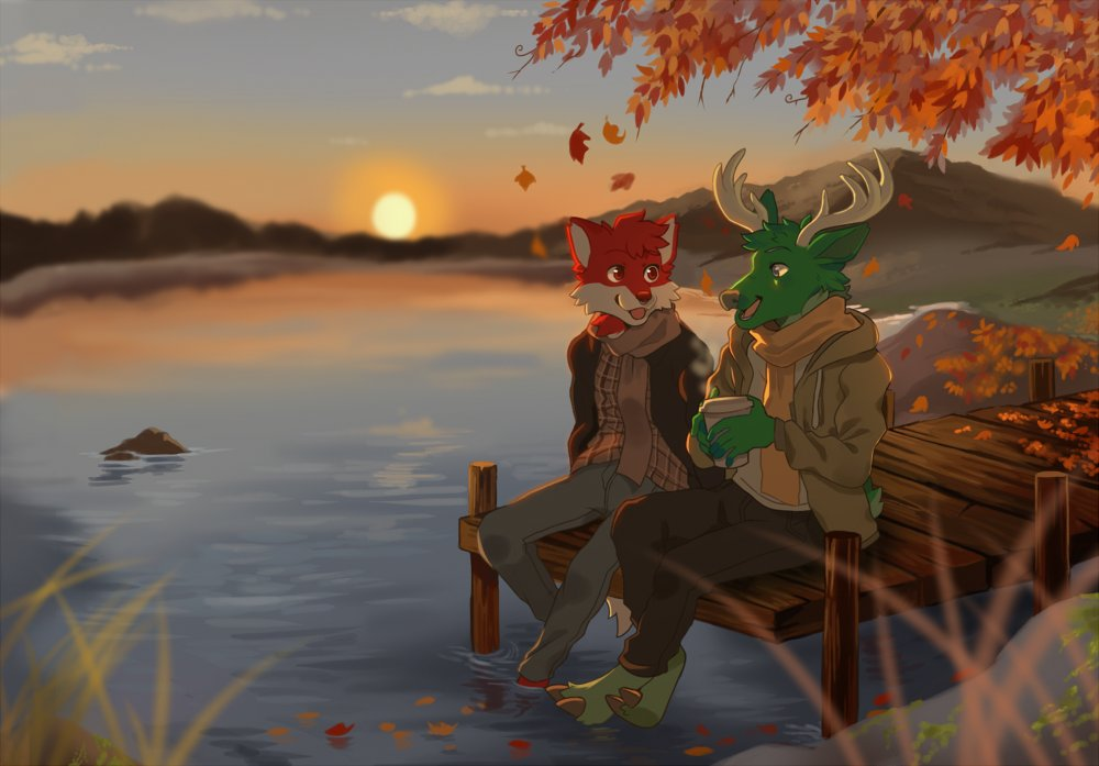 commission for @ashtondeer and @wiesethewaff ! I enjoyed drawing this a lot :D https://t.co/fenBHTfafS