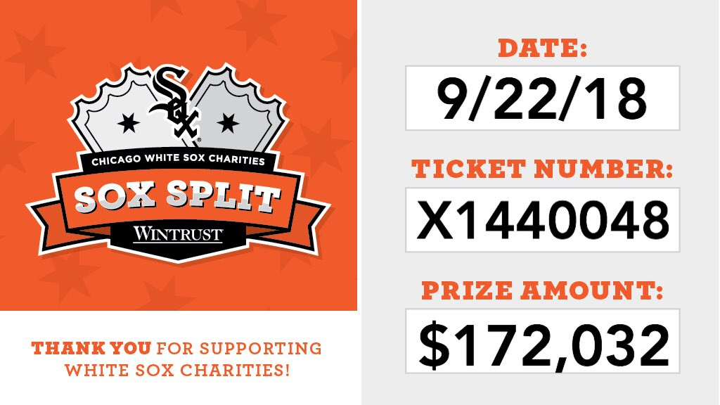 Everyone check your tickets! Thank you, fans! What an incredible night for #SoxCharities! https://t.co/jLsqOXUYn2