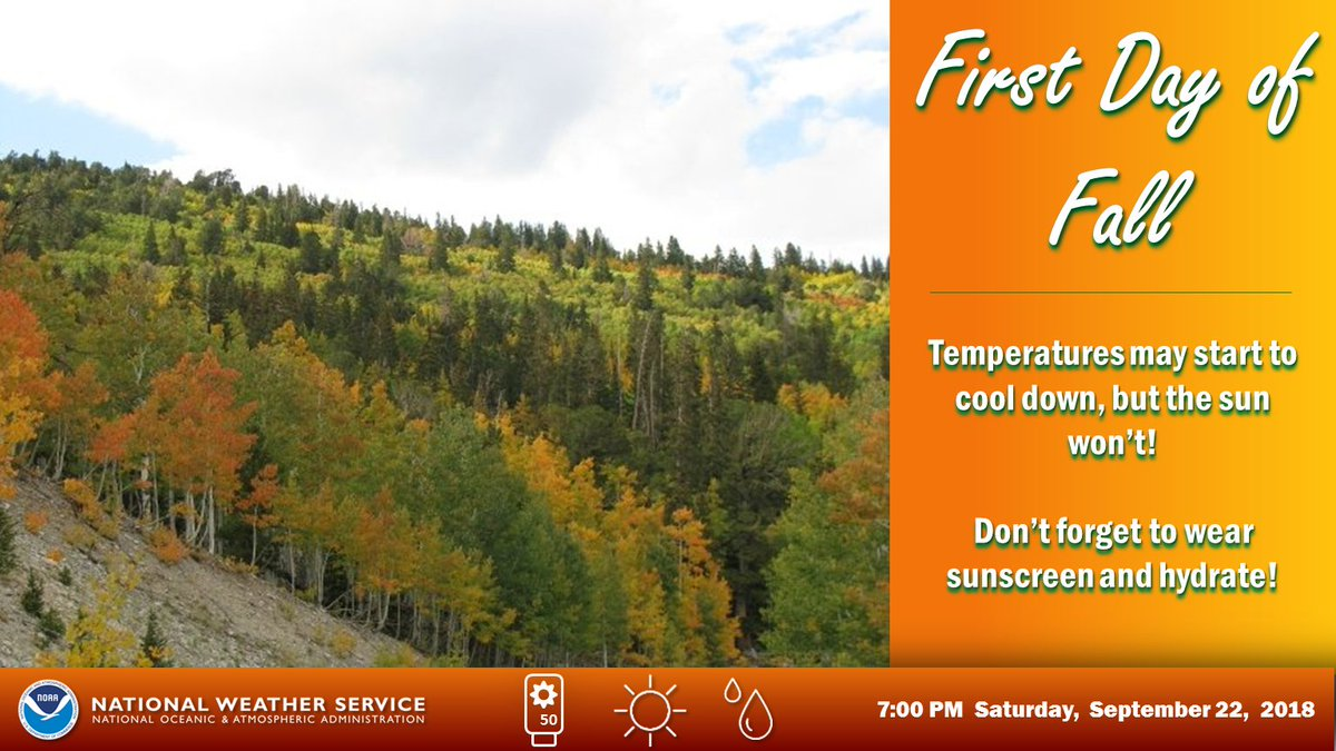 Happy #FirstDayofFall!  Who else has already broken out the decorations? 🍁🍂🎃 #VegasWeather #NvWx #AzWx #CaWx