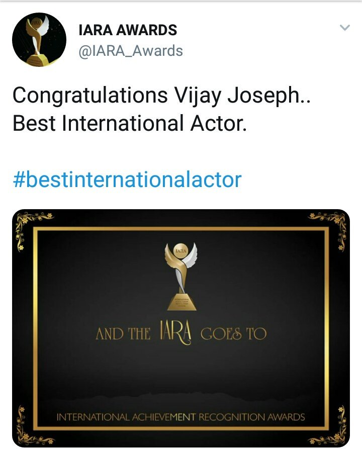 Congratulations #Thalapathy #Vijay Sir Best International Actor 💐💐💐  #BestInternationalActorVIJAY  #bestinternationalactor   Wishes From All #MakkalNaayagan #KARTHI Fans 😍