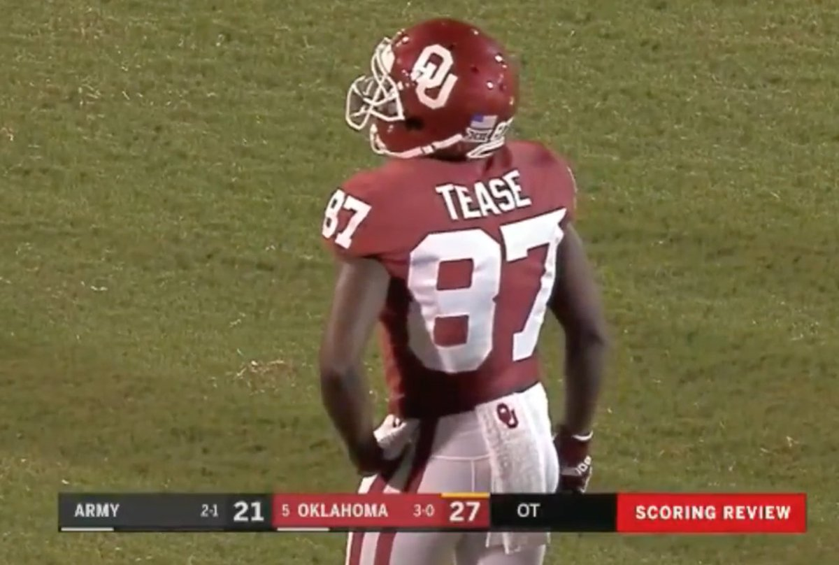 Oklahoma scoring in OT and then having it called back is such a