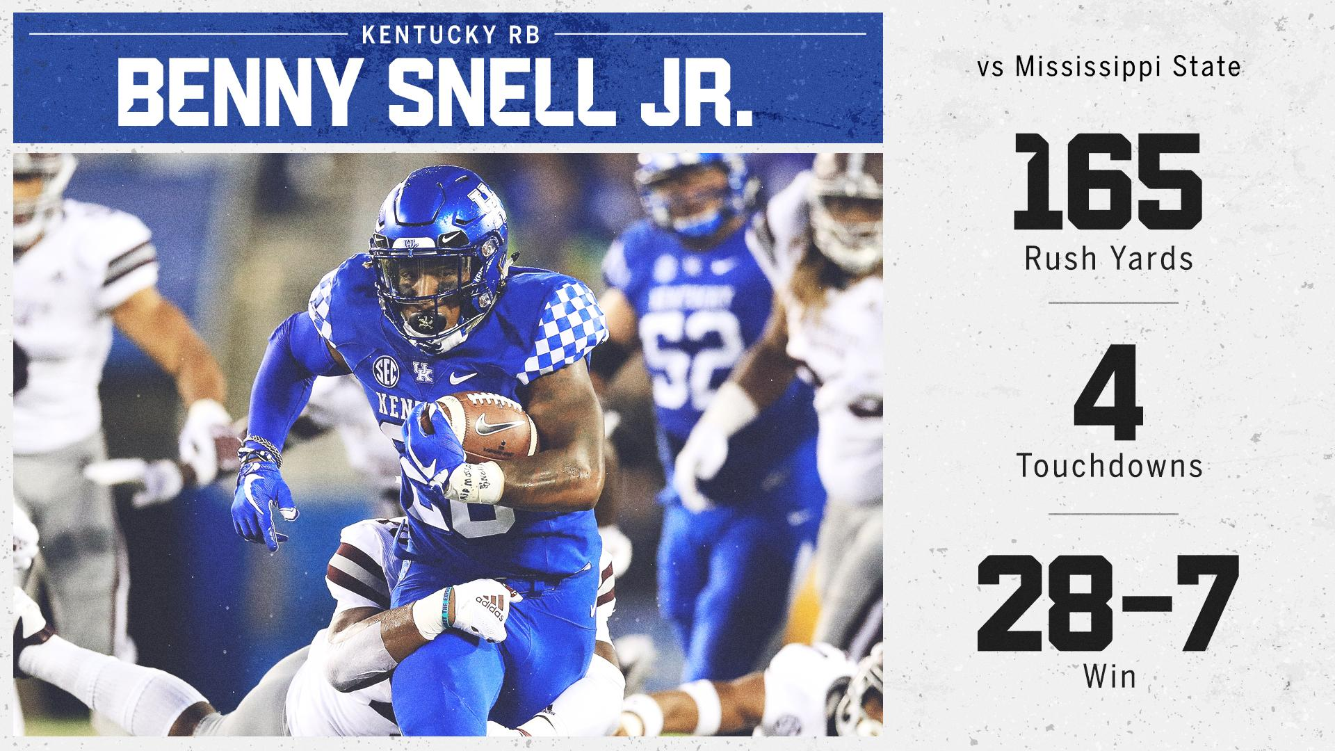 Kentucky is 4-0 for the first time since 2008 ... and Benny Snell Jr. is a big part of that �� https://t.co/g6FMDvwBhj