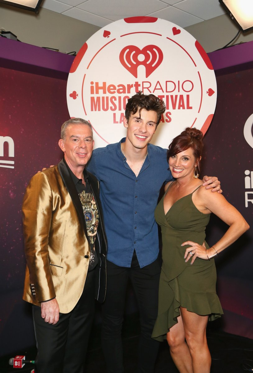 The party don't start till #ShawnMendes walks in! @ElvisDuranShow #iHeartFestival