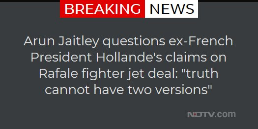 Arun Jaitley questions ex-French President Hollande's claims on Rafale fighter jet deal: 'truth cannot have two versions'