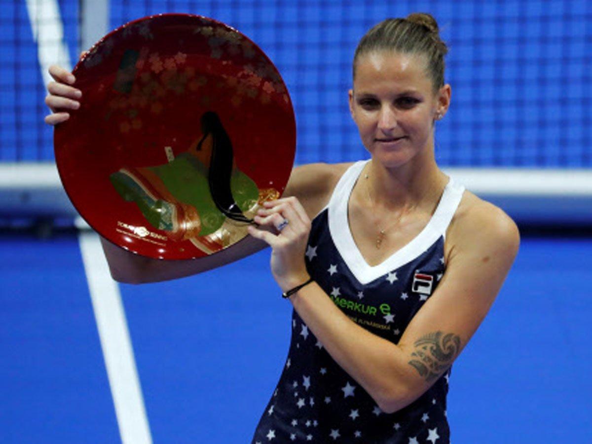 .@KaPliskova upsets @Naomi_Osaka_ to win Pan Pacific Open   READ: https://t.co/7CemQ6lsLA  #Tennis https://t.co/gDBli6LM2U