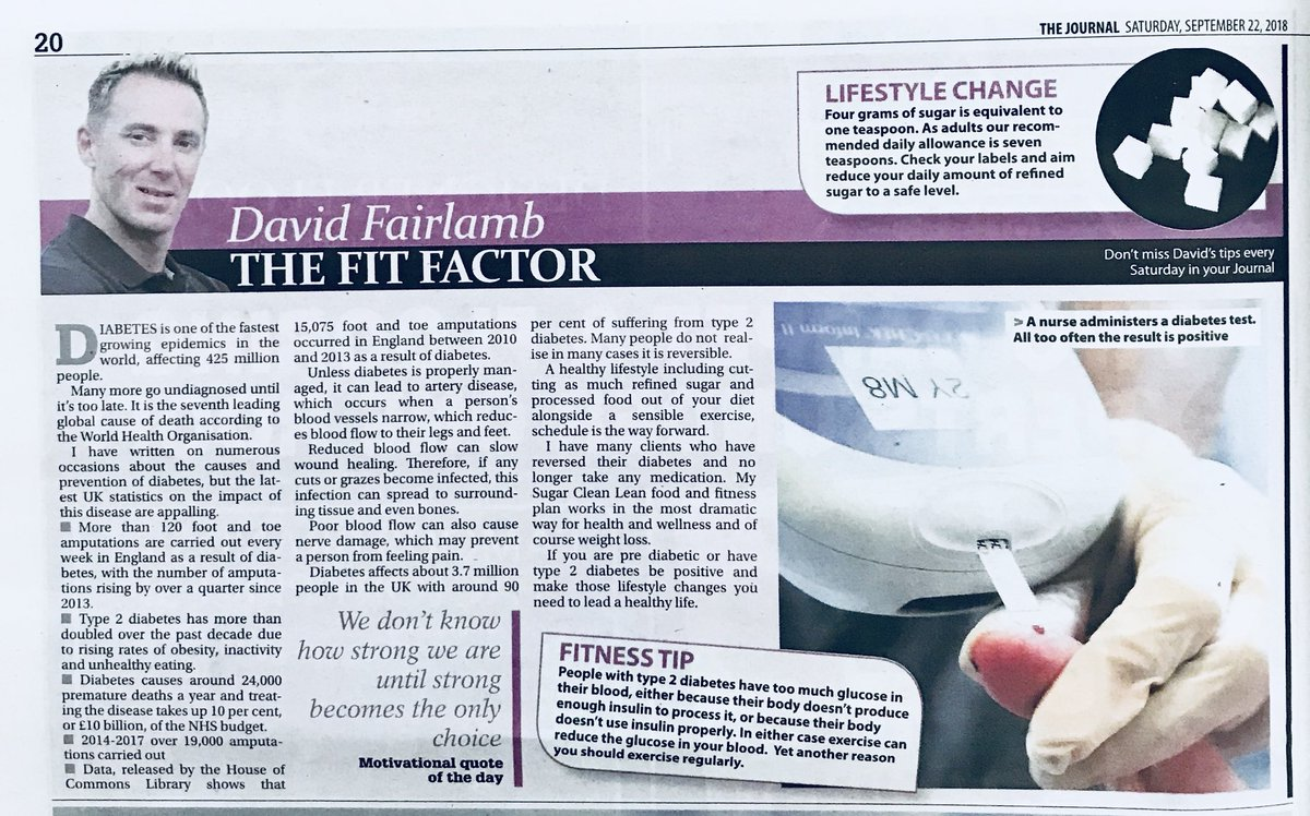 425 million people are affected by #diabetes there are over 120 foot &amp; toe amputations in UK every week. My @TheJournalNews #health #fitness column #obesity #sugar #alcohol #nutrition #lifestyle #Wellbeing #eatclean #exercise #nefollowers @Diabetescouk <br>http://pic.twitter.com/f0A0QizoJX
