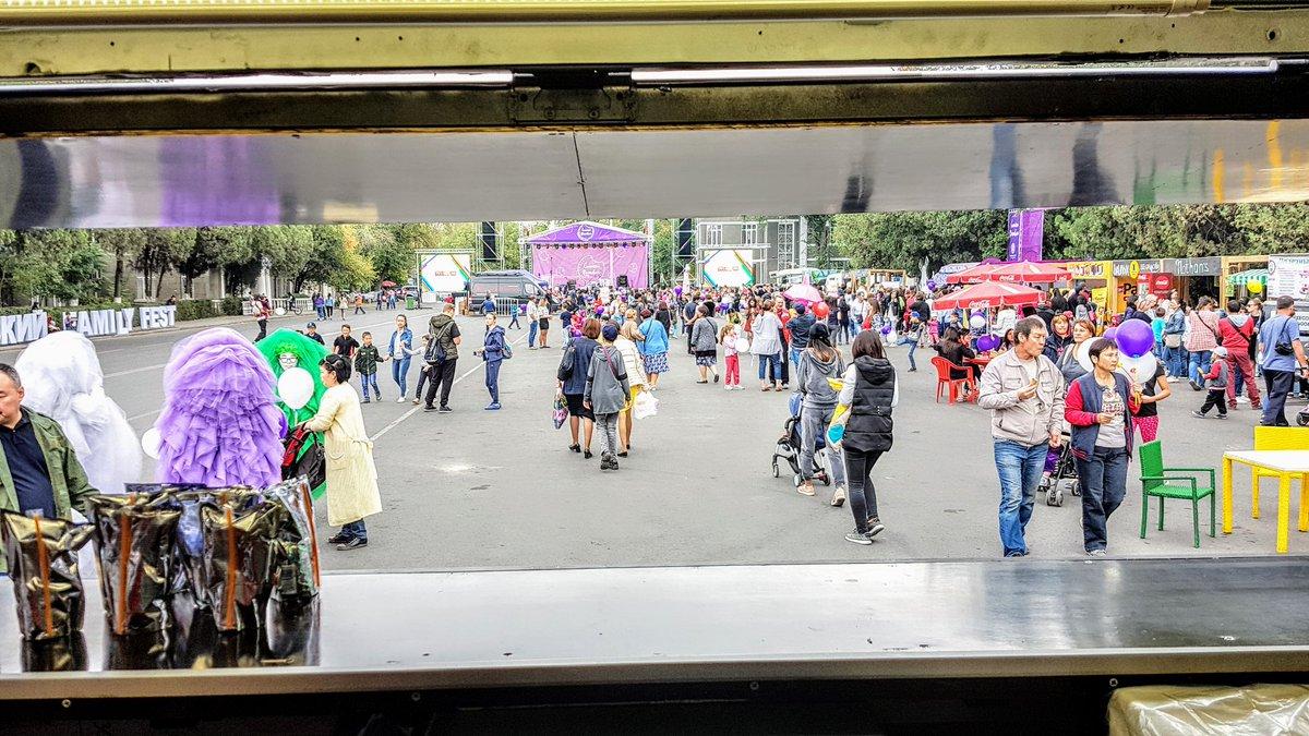 Вид из танка.   #torroburgerbus #familyfest2018