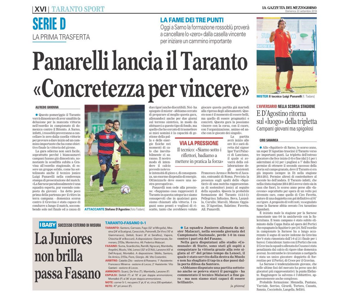 Buona domenica dall'edicola rossoblu #Taranto #press #today  - Ukustom