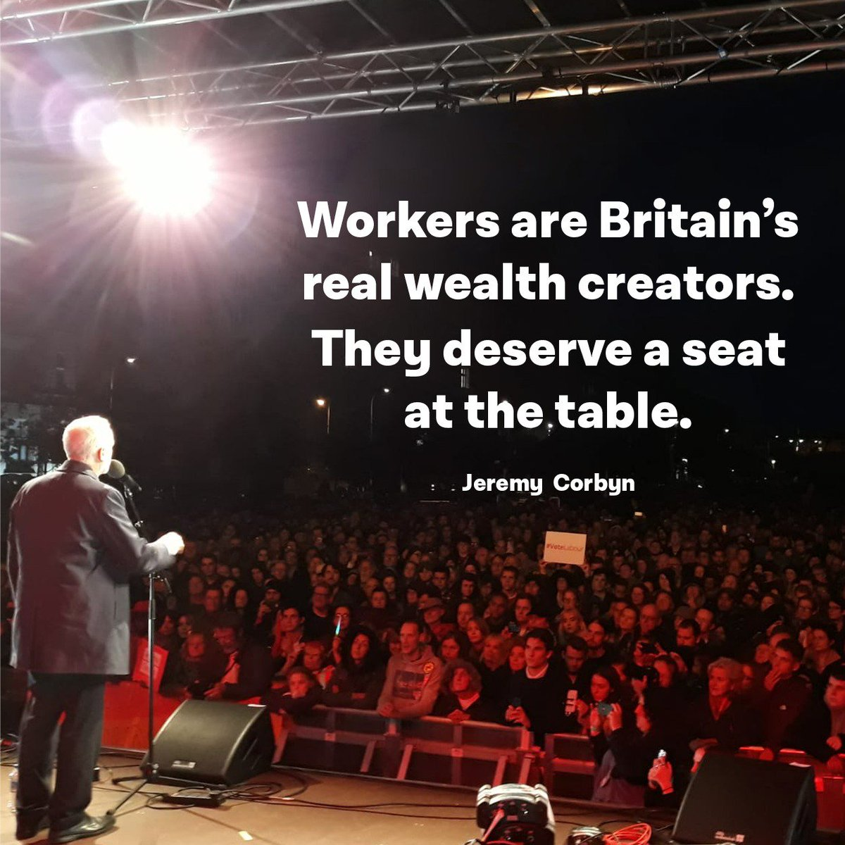 Productivity lags behind other countries, pay has fallen and job insecurity has risen.  Simply, the current system isn't working except for the privileged few.  @UKLabour will start to turn this around by making businesses reserve a third of board seats for workers. #Lab18