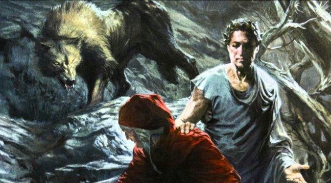 """Inizialmente vede la #salvezza in un colle illuminato e comincia a scalarlo, ma viene a ricacciato a valle da 3 terribili fiere: una #lonza, un #leone e una #lupa.Ed ecco la prima grande provocazione della #divinacommedia:  """"a te convien tenere altro #viaggio"""".#tempodiDante  - Ukustom"""