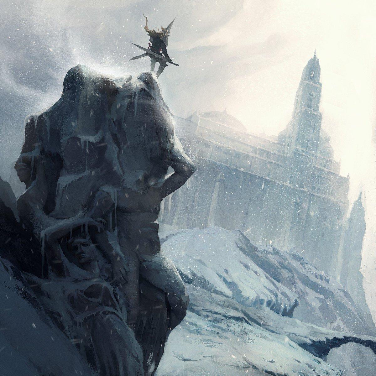 &quot;Frozen summit&quot; scenary concept art #indiedev #digitalart #art<br>http://pic.twitter.com/fZMqGdNRsO
