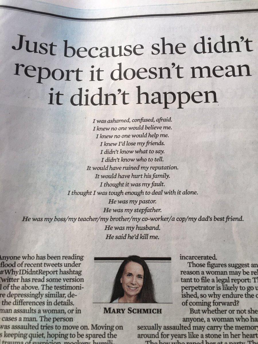 . @MarySchmich in today's Tribune. #WhyIDidntReport https://t.co/DORZ1Pgyy8