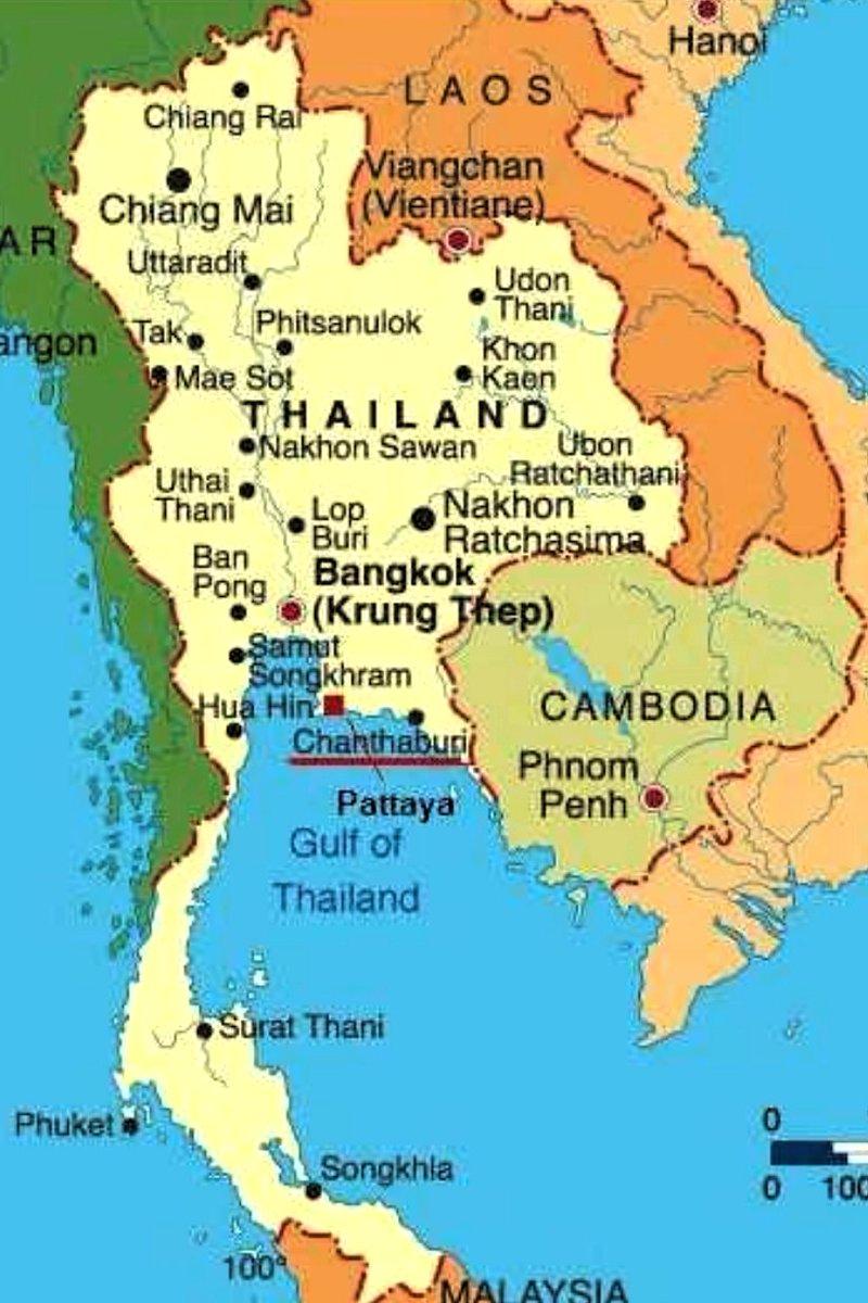 detailed map of korat thailand - 696×1056