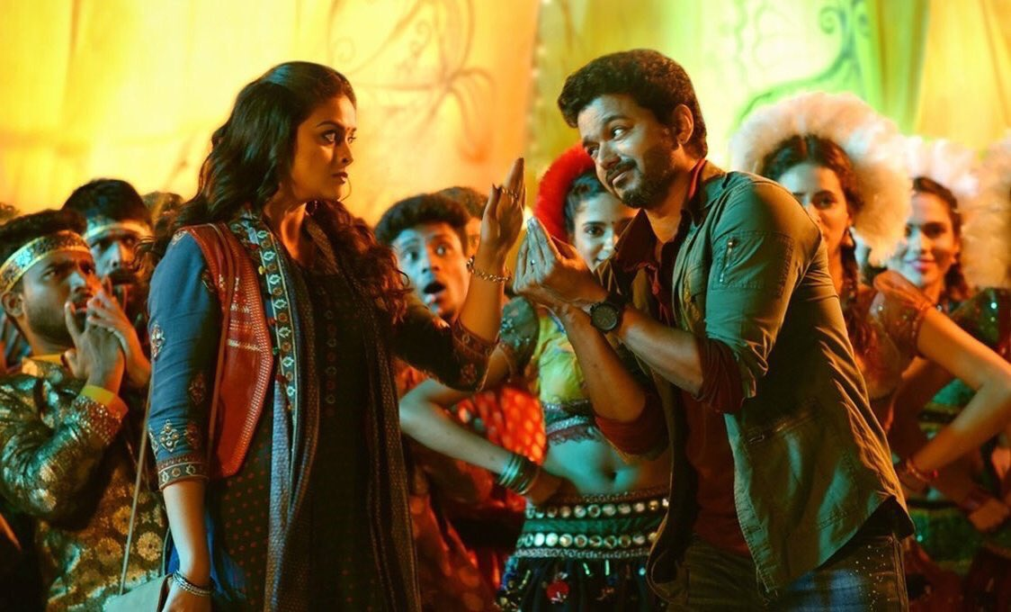 Thalapathy Vijay and Keerthy Suresh in Simtaangaran Song In Sarkar