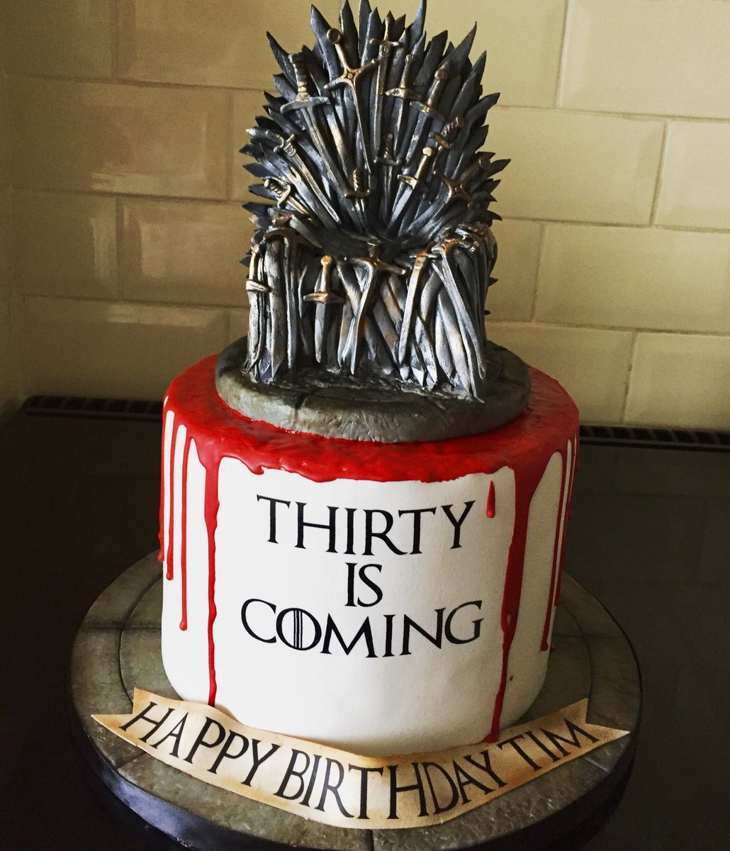 Sarah Phillips On Twitter Game Of Thrones 30th Birthday Cake For