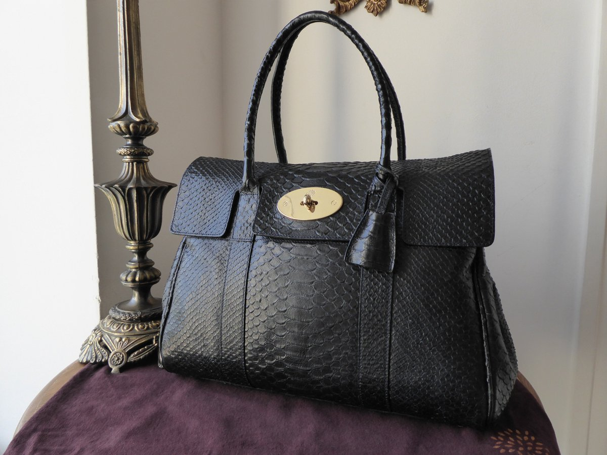 7c5372753b7 ... where to buy mulberry classic bayswater in ink blue silky snake printed  leather e4691 2812c ...