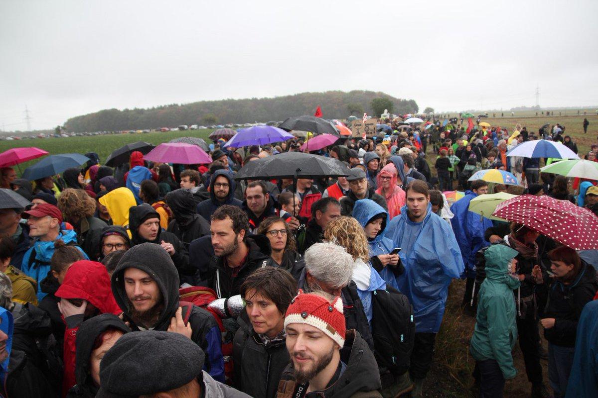 Heute strömen wieder tausende Menschen in den #HambacherForst. Viele sind jetzt schon da, weitere auf dem Weg. Ihr Ziel: Den #Hambi retten -RWE stoppen. Keine Rodung mehr für die Kohleindustrie! Die Solidarität wächst. #StopptdenWahnsinn #Hambibleibtbleibt