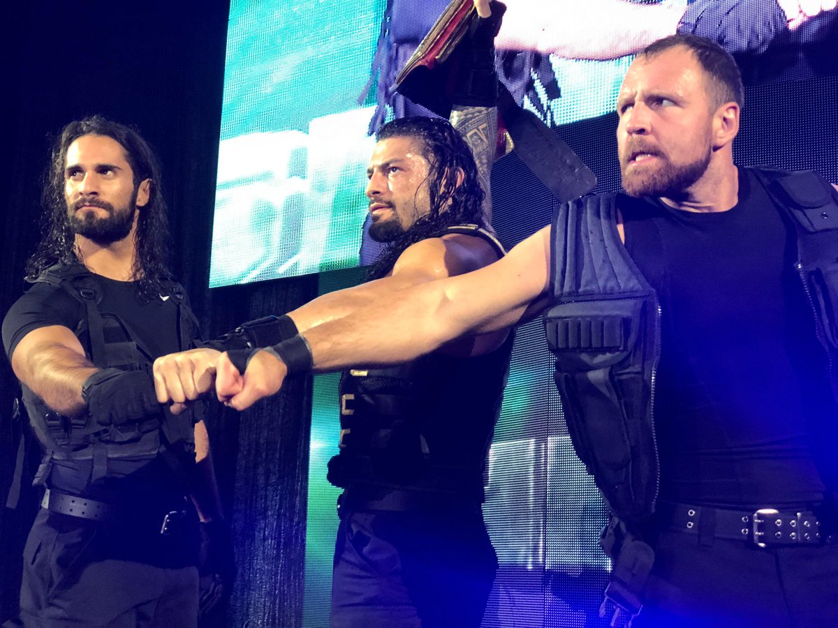 Sierra Hotel India Echo Lima Delta. The #HoundsOfJustice are ready for whatever challenge comes their way tomorrow on #RAW! @WWERollins @WWERomanReigns @TheDeanAmbrose