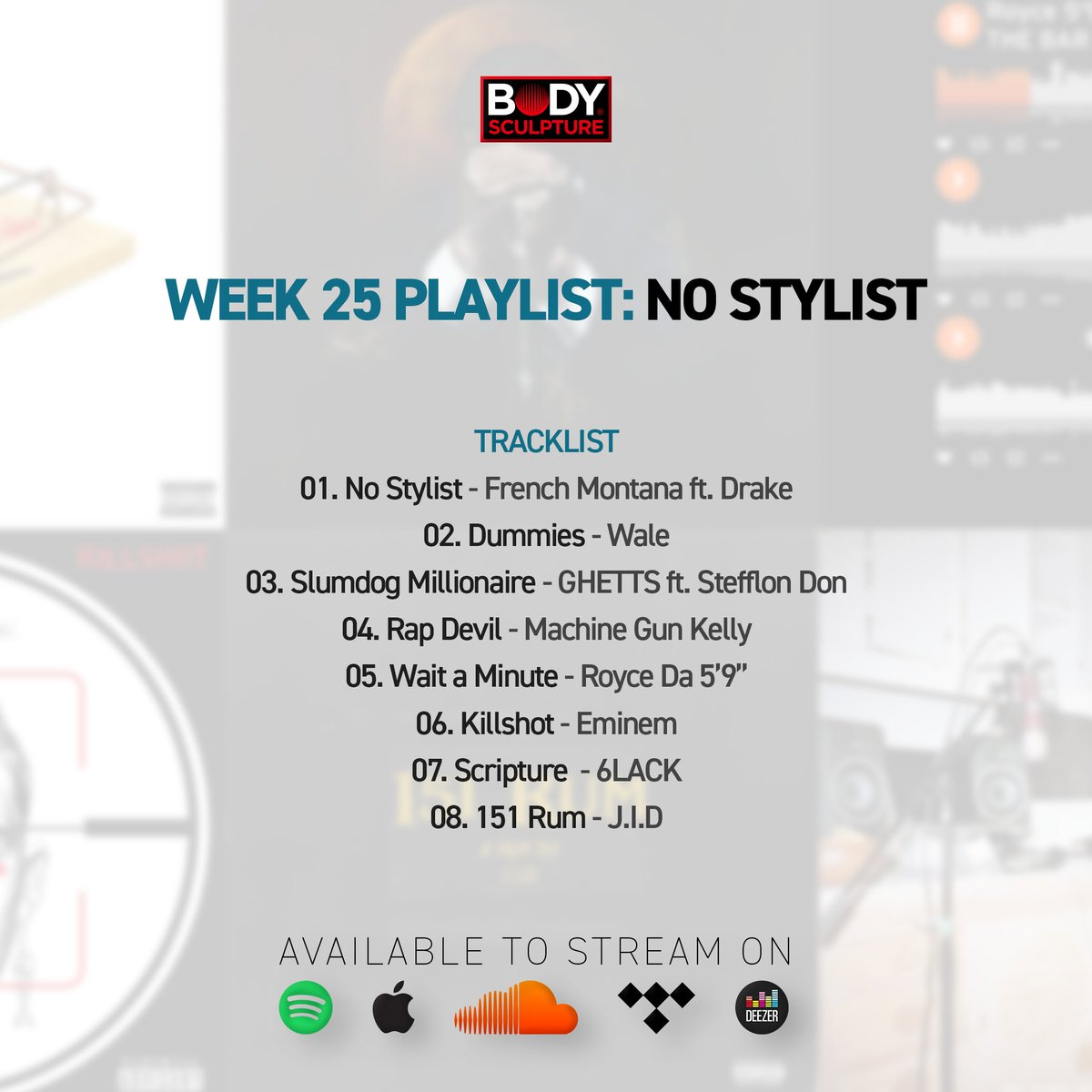 Body Sculpture On Twitter Our Week 25 Playlist For Your