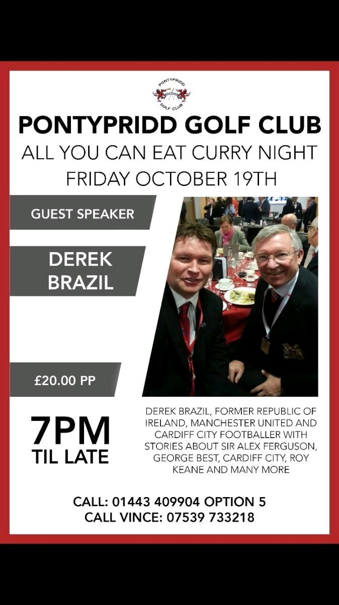 Get your ticket requests in early to listen to @Derekbrazil5 talking all things Football including Alex Ferguson, Roy Keane, Manchester United, Cardiff City and lots lots more! it is sure to be a great night! Please RT