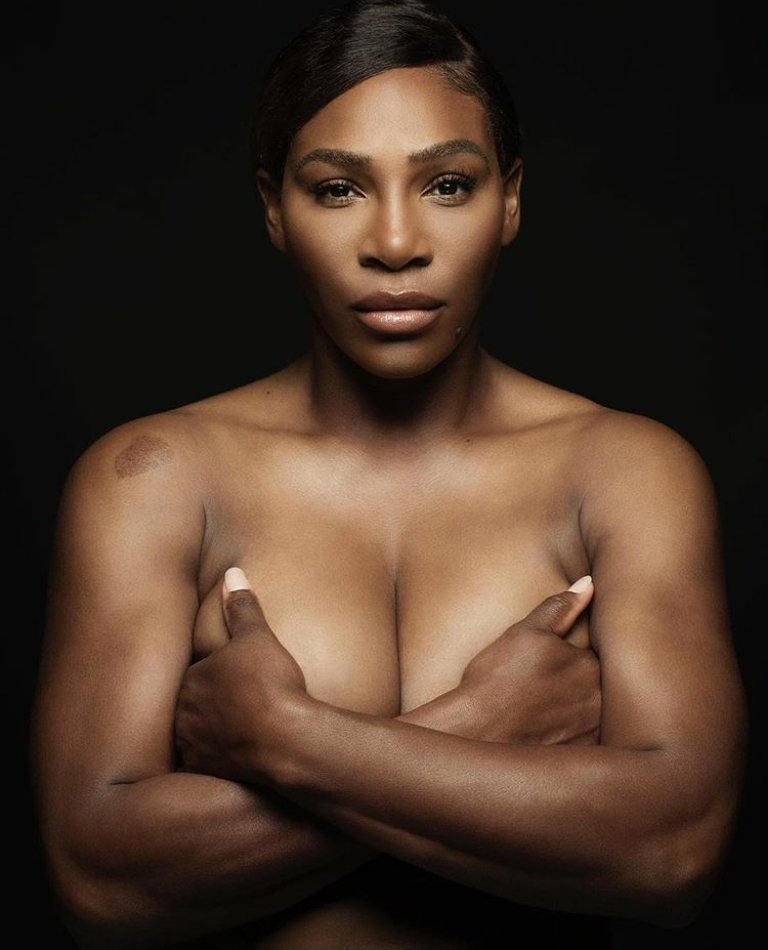 Serena Williams Goes Completely Topless In Heroic Breast Cancer Photo