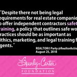 We couldn't agree more. #Realtor #RealtorSafety #RealtorSafetyMonth #Safety