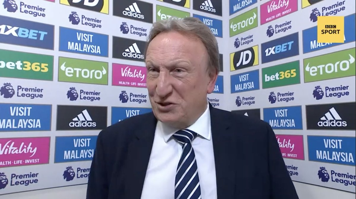 We just wanted to get back in it and thats where they punish you #CardiffCity manager Neil Warnock on yesterdays 5-0 loss to Manchester City Watch here 👉 bbc.in/2pvbS0k