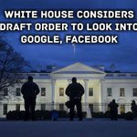 """#google #facebook #antitrust #whitehouse https://t.co/LcSHhZWBDQ """"The White House is considering a draft executive order for President Donald Trump that would instruct federal antitrust and law enforcement agencies to open probes into the practices of Alphabet Inc.'s Google, Fa…"""