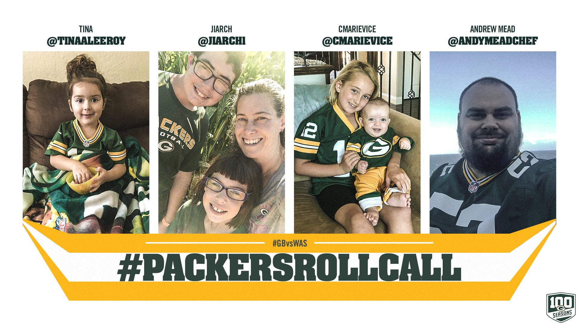 Thanks for checking in & enjoy #GBvsWAS!  #PackersRollCall #GoPackGo https://t.co/N9rQ7Shff9
