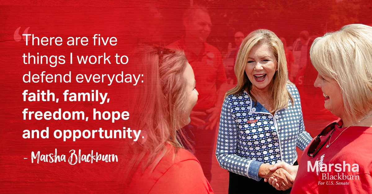 There are five things I work to defend everyday: faith, family, freedom, hope, and opportunity. https://t.co/kBqVS6ePkq