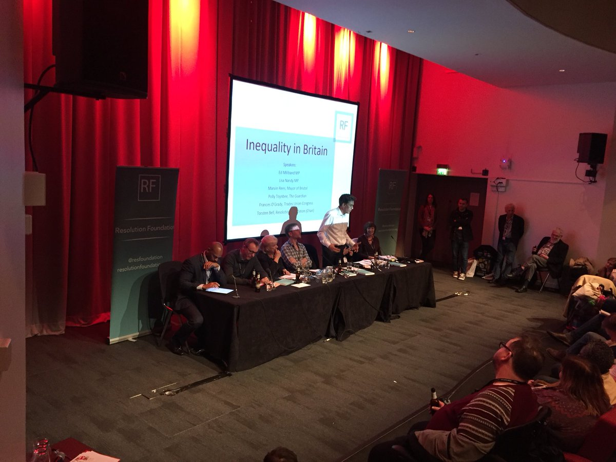test Twitter Media - .@EdMiliband_MP ends his comments on a cheerful note by saying that there is a lot of fresh thinking on inequality, and that it is an issue that Labour can rally around https://t.co/3jEpKUBFcV