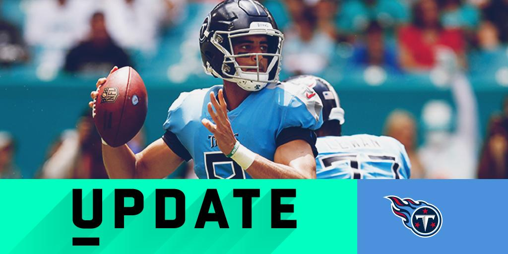 Marcus Mariota (elbow) won't start for @Titans in #TENvsJAX: https://t.co/pXDaAIFYwq (via @RapSheet) https://t.co/dwiNMR29dE