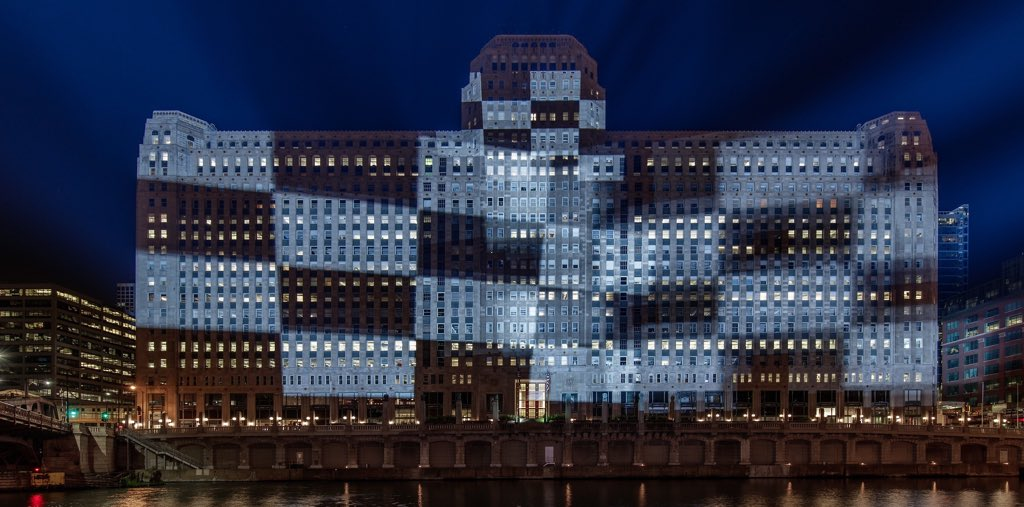 Were at the final week of testing before the launch on September 29! All 34 projectors will be running at full brightness while we prep for the unveiling. Learn more about the process at artonthemart.com/project-summary #artontheMART #theMART