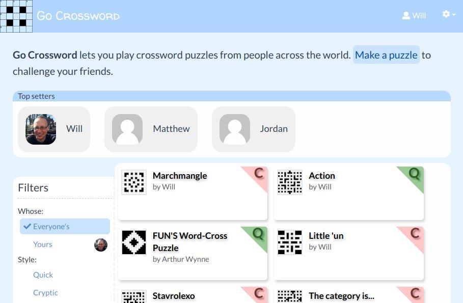 Go Crossword On Twitter My Free On Line Crossword Puzzle Tool