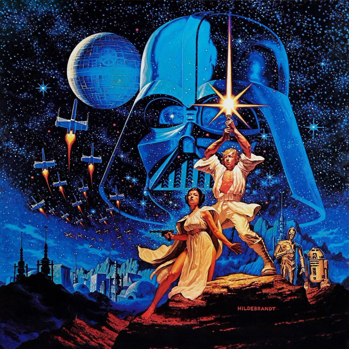 Long before I saw #StarWars, the Hildebrandts' poster transported me to long ago and far away. It's the single most beautiful, beguiling and evocative work of art ever created.