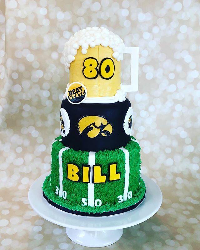 Tremendous Live Love Bake On Twitter Hawkeyes 80Th Birthday Cake Funny Birthday Cards Online Overcheapnameinfo