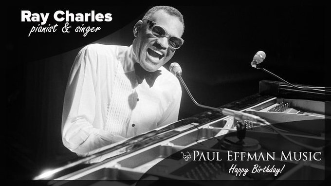 "Known for his 1961 hit ""Hit the Road, Jack\"", today we wish a happy birthday to Ray Charles."