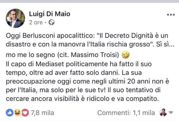 #Dimaio attacca #Berlusconi ma con i suoi voti eleggerà #Foa presidente #Rai. È finita la stagione della #coerenza e dell' #honesta. Non siete uguali agli altri. Siete peggio. #mentitoriseriali  - Ukustom