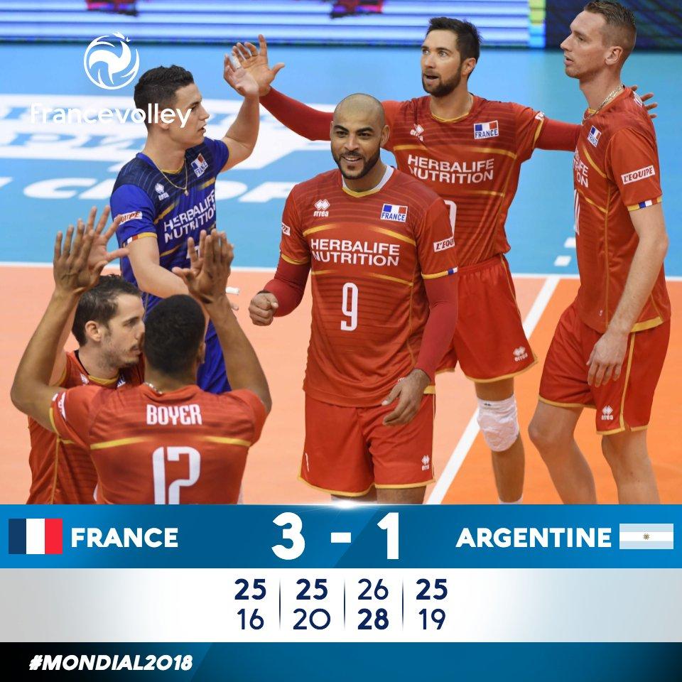 #Mondial2018 #FRAARG Victoire des Français 3/1 Il faut désormais attendre l'issue du match Pologne / Serbie