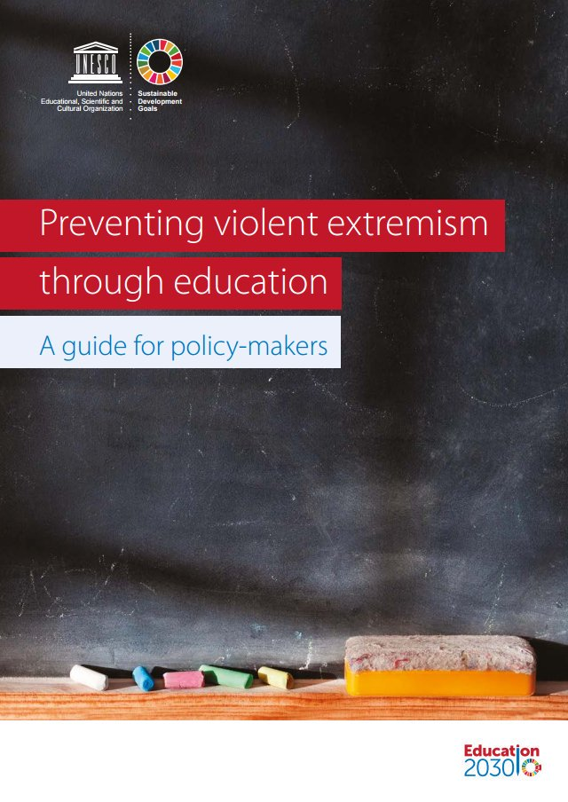 In the face of #ViolentExtremism, security responses are not enough. We need inclusive & equitable quality  #educationhttps://t.co/1pF1M46jyg