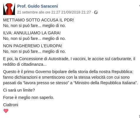 Un governo bipolare di #cialtroni.#GovernoDelCambiamentoInPeggio #m5s #Lega #cazzari  - Ukustom