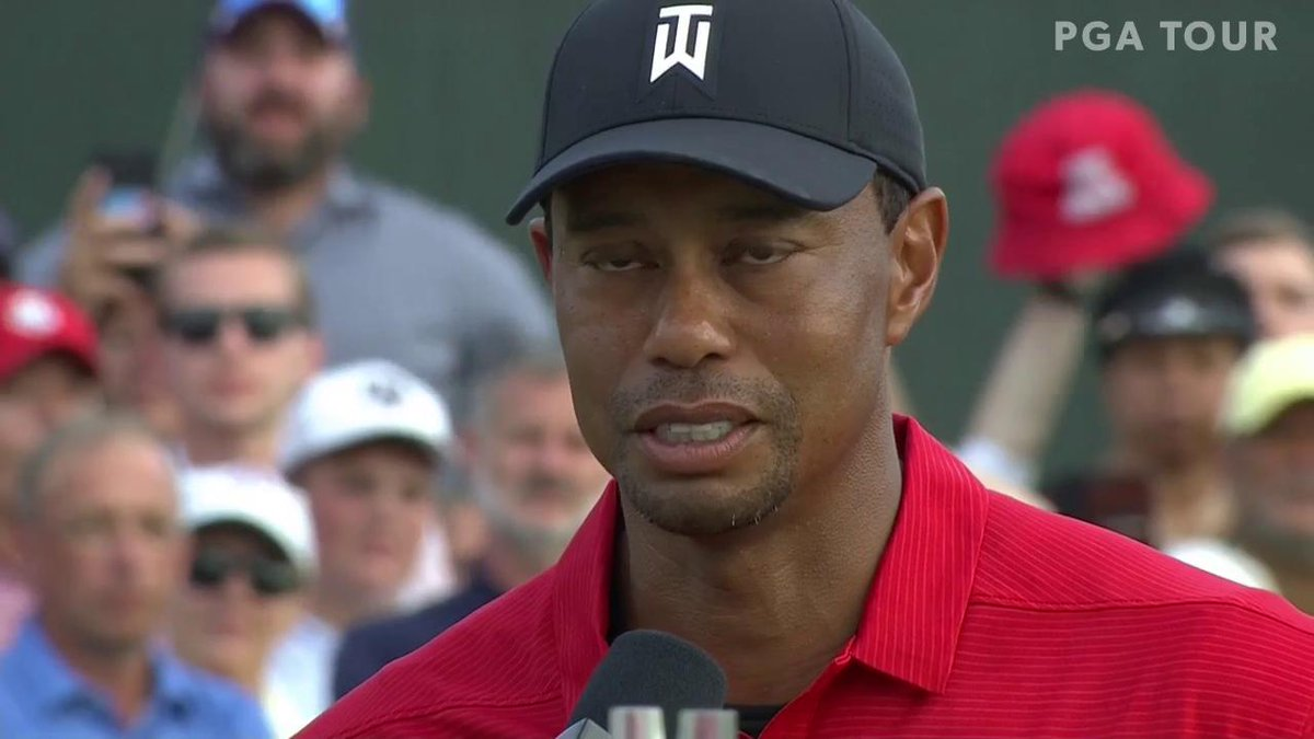 'I just can't believe I pulled this off.'  @TigerWoods gets emotional after winning the @PlayoffFinale.