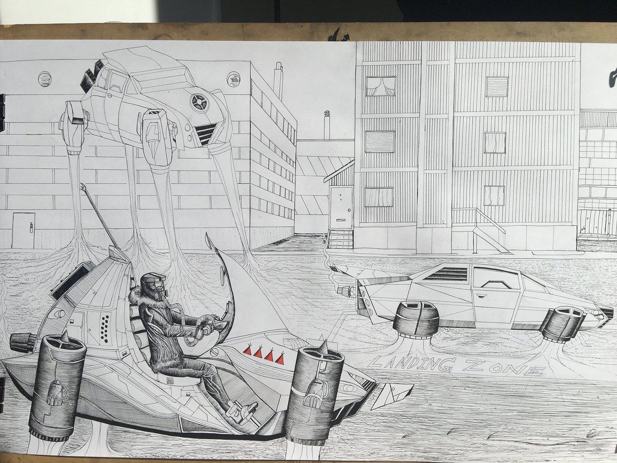 Morganzoeartist On Twitter Expensive Flying Vehicles Landing In Behchoko 2111 Ce By Morgan Zoe 2018 Ink On Paper Art Artist Artwork Artworks Create Car Draw Drawing Drawings Draws Illustrator Illustration Ink Inkdrawing Future