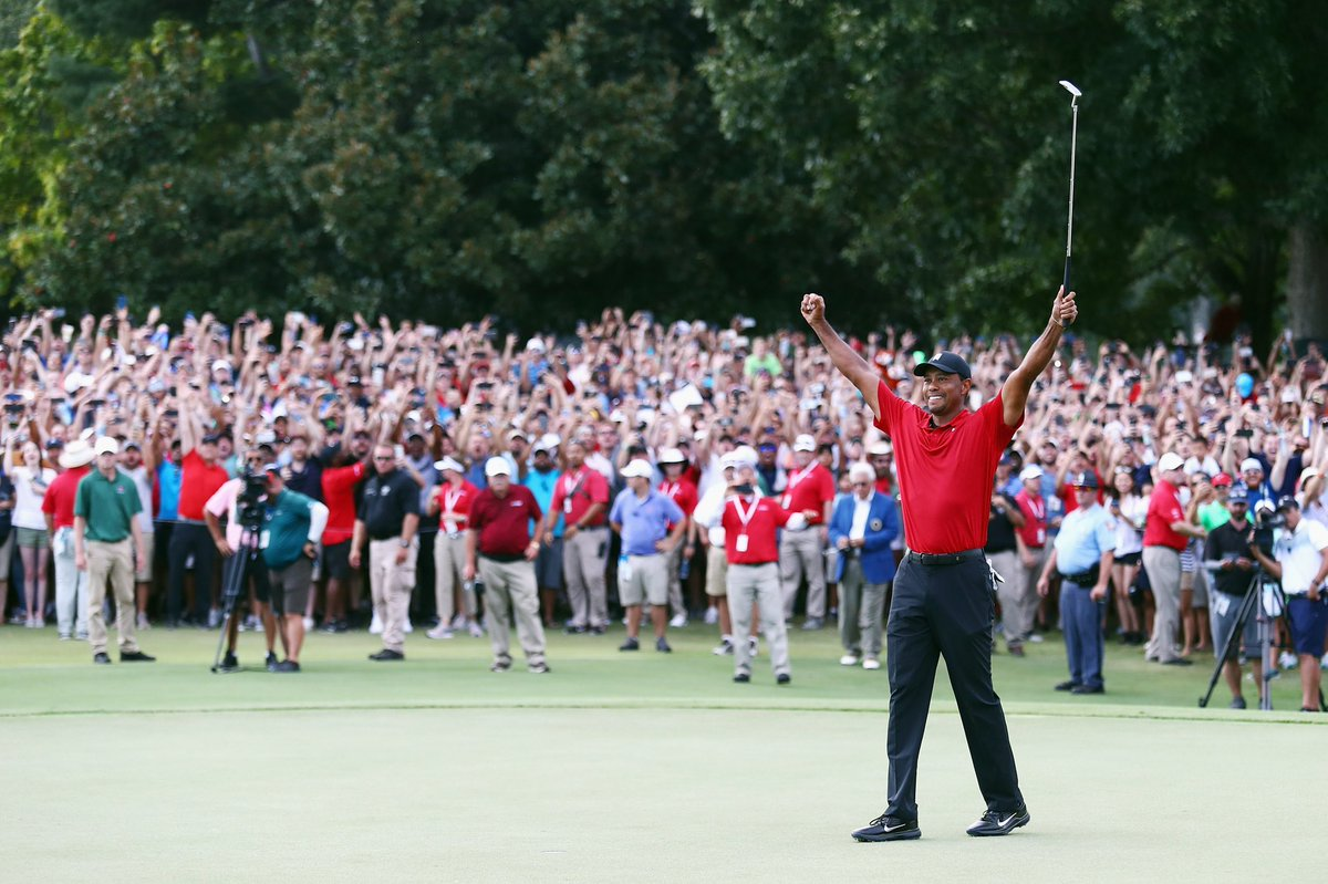 Congratulations to our founder, @TigerWoods on win number 80